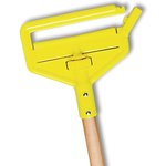 Natural And Yellow Colored Invader Wood Side-Gate Wet-Mop Handle-54-in