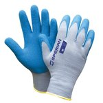 Large Blue/White Perfect Fit Coated Gloves
