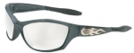 Gunmetal Silver Mirror HD 1000 Series Safety Glasses