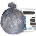 Gray, 100 Count 56 Gallon 1.6 Mil Low Density Can Liner-44 x 55