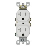 20 Amp Tamper Resistant Duplex Receptacle Outlet, White