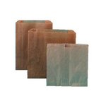 "8-1/4"" x 12"" x 5-3/4"" Kraft Waxed Paper Receptacle Liners"
