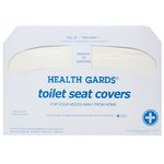 White, 250 Count Half-Fold Paper Health Gards Toilet Seat Covers