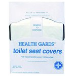 White, 200 Count Quarter-Fold Health Gards Paper Toilet Seat Covers
