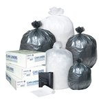 Clear, 25 Count 45 Gallon 22 Micron High-Density Can Liner-40 x 48