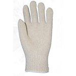 String Knit Work Gloves, Small, White