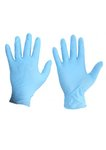 Disposable Nitrile Powder-Free Gloves, Medium, Blue