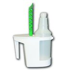 White, Toilet Caddy & Brush-Caddy: 8'' x 4'', Brush: 6-In. Length