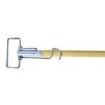 Metal, 63-in Spring Clip Mop Handle-Wood Handle/Metal Head