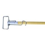 Metal, 63-in Spring Clip Mop Handle-Wood Handle/Metal Head
