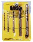 5 Piece Left-Hand Mechanics Length Cobalt HSS Drill Bit Set
