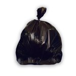 Black 33 Gallon Low-Density Can Liner, 100 Count