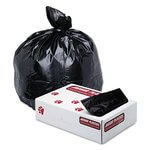 Black, 100 Count 45 Gallon 1.7 Mil Low-Density Can Liner-40 x 46