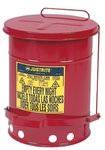 10 Gallon Red Oily Waste Can with Lever