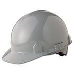 SC-6 Head Protection, 4-pt Ratchet Suspension, Gray, Hard Hats