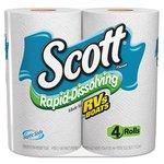 Scott 1-Ply Rapid Dissolving Tissue Rolls
