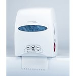 Pearl White, SANITOUCH Hard Roll Towel Dispenser-12.6 x 10.2 x 16.3