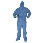 A60 Elastic-Cuff and Back Hood and Boot Coveralls, Denim, 3XL