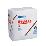White, 68 Count Quarterfold 4-Ply WYPALL L20 Wipers-12.2 x 13