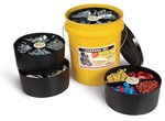 Yellow Storage Organizer Bucket w/ 2 Large & 2 Small Black Tray