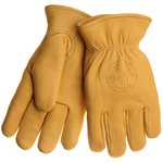 Deerskin Work Gloves - Lined - Medium- Tan