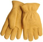 Deerskin Work Gloves - Lined - Large- Tan