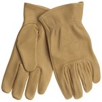 Deerskin Work Gloves - Large- Natural Tan