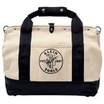18'' Pocket Canvas Tool Bag with Leather Bottom