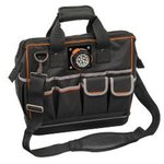 Black Tradesman Pro Organizer Lighted Tool Bag, 31 Pockets