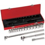 16-Piece 1/2-Inch Drive Socket Wrench Set