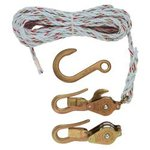 Block & Tackle with Guarded Snap and Swivel Hooks and Rope