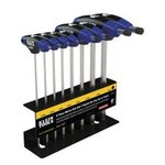 6'' Metric Ball-End Journeyman T-Handle Set with Stand, 8 Piece