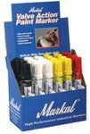White Valve Action Paint Marker Counter Display