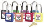 6 Pin Green Safety Lock-Out Padlock Keyed Different