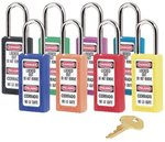 Yellow No. 410 & 411 Lightweight Xenoy Safety Lockout Padlock