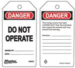 Do Not Operate Guardian Extreme Safety Tags
