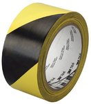 Black/Yellow Hazard Marking Vinyl Tape 766