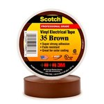 Scotch Vinyl Electrical Brown Color Coding Tapes 35