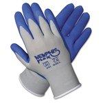 Memphis Flex Seamless Nylon Knit Gloves, Large, Blue/Gray, 1 Pair