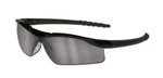 Dallas Wraparound Safety Glasses, Black Frame, Gray Indoor/Outdor Lens