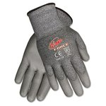 Ninja Force Polyurethane Coated Gloves, Medium, Gray