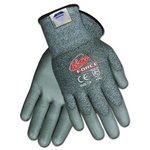 Ninja Force Polyurethane Coated Gloves, Extra Large, Gray