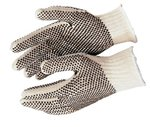 Large Cotton/Polyester PVC Dot String Knit Gloves