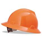 6.5-8 Standard Size Hi-Viz Orange V-Gard Protective Hat