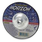 "7"" X .125"" X .625"" NorZon Plus Depressed Center Grinding Wheel"