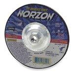 "7"" X .125"" X .625"" NorZon Plus Depressed Center Grinding Wheel"