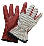 Large Cotton Worknit HD Supported Nitrile Gloves