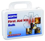 Bulk First Aid Kit, 85 Pieces, 25 Person System, Plastic Case