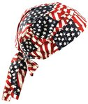 One Size Wavy Flag Tuff Nougies Regular Tie Hats