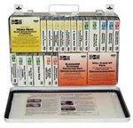 36 Unit Weatherproof Steel First Aid Kits